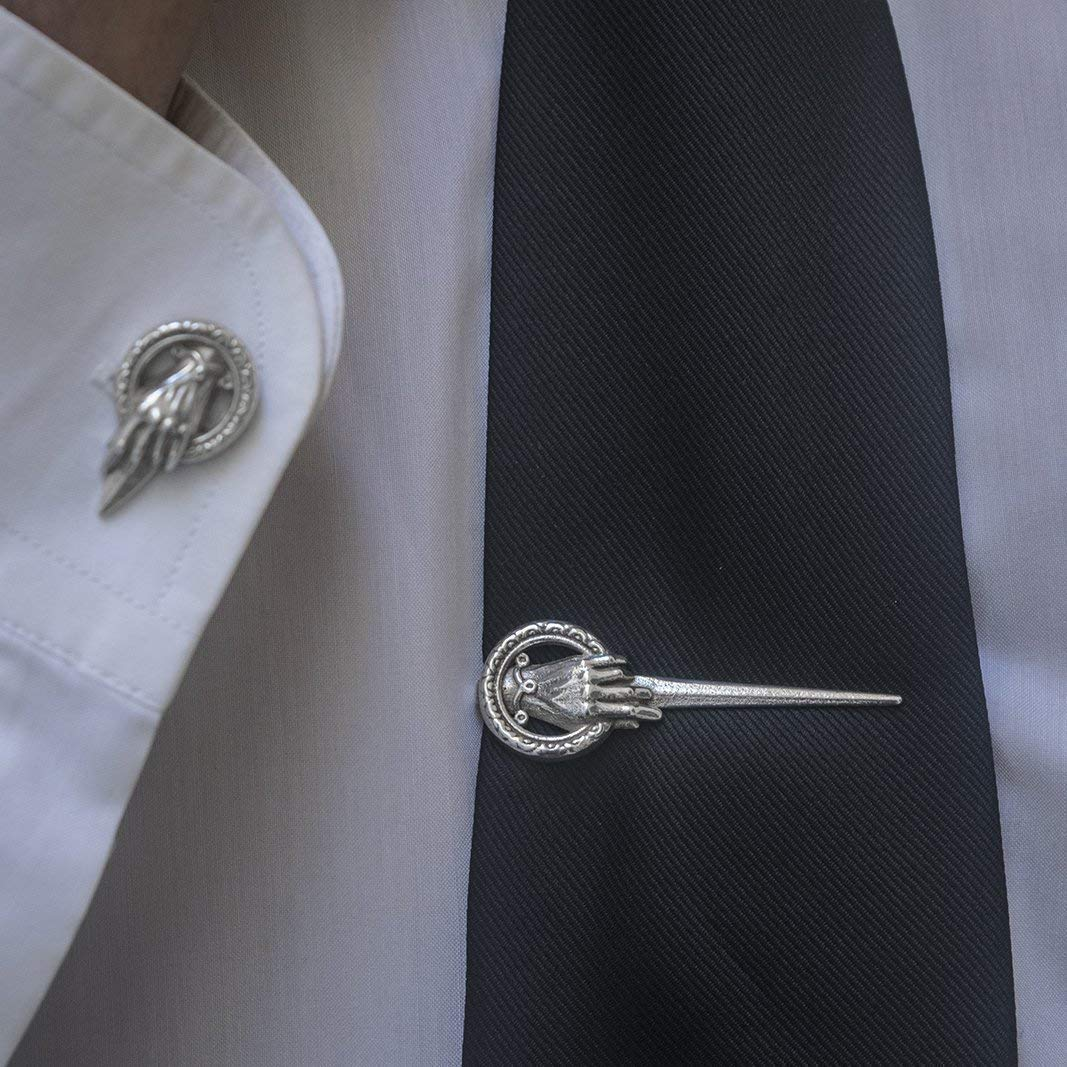 Tie Clip Hand of the King in Silver