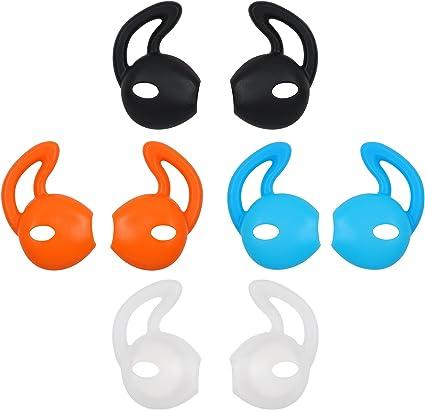 2 pares de auriculares auriculares consejos tapones de silicona para Apple airpods transparente