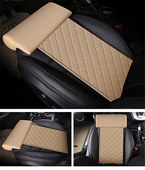 Amazon.com: GFYWZ - Cojín de piel para asiento de coche con ...