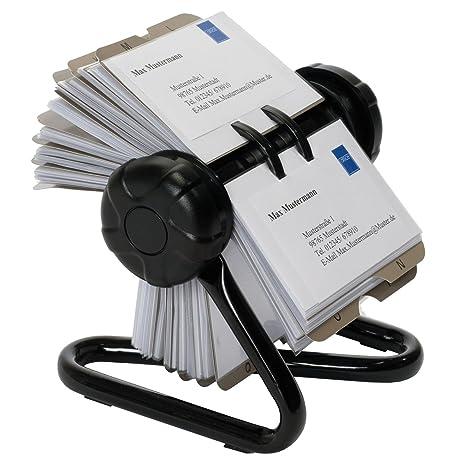 Oxid7 - Archivador giratorio Rolodex para tarjetas (para 400 tarjetas, con 24 láminas de