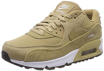 online retailer 25094 ed6b5 Nike Women s WMNS Air Max 90 Lea Competition Running Shoes, Multicolour  Parachute Beige Black