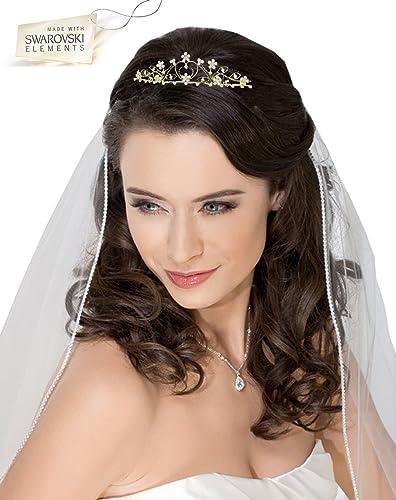 Goldene Krone Diadem Handgefertigt Auch Für Goldene Hochzeit