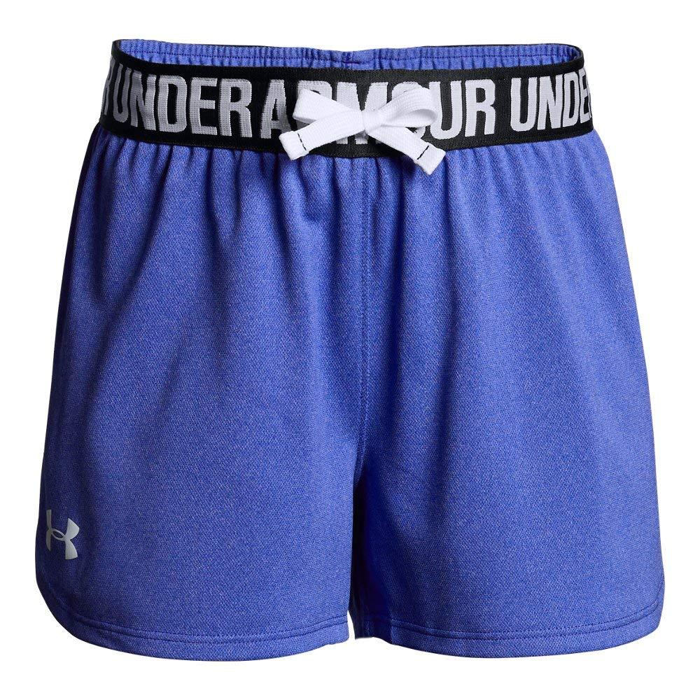 Under Armour Kids Girl's Play Up Shorts (Big Kids) Constellation Purple Light Heather/Black X-Small