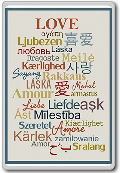 Amazoncom Love Amour In Different Languages Motivational