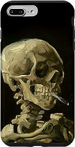 iPhone 7 Plus/8 Plus Van Gogh Painting Head Of Skeleton Cigarette Art Phone Cover Case