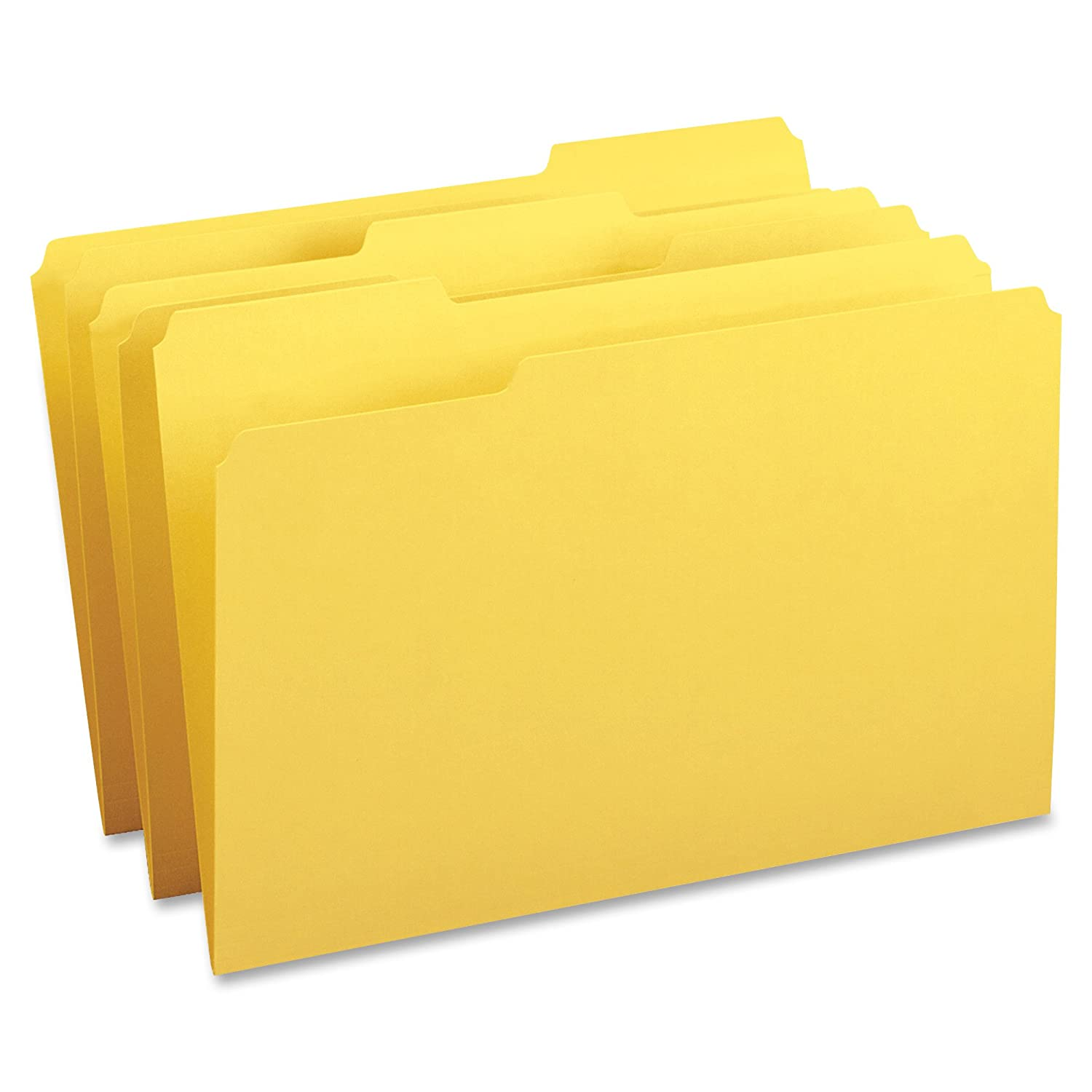 Business Source 1/3-cut Tab Legal Colored File Folders, Yellow (99722) SP Richards (Uno)
