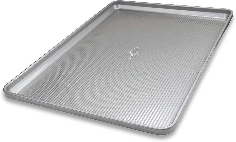 USA Pan Bakeware Heavy Duty Half Sheet, Warp Resistant Nonstick Baking Pan