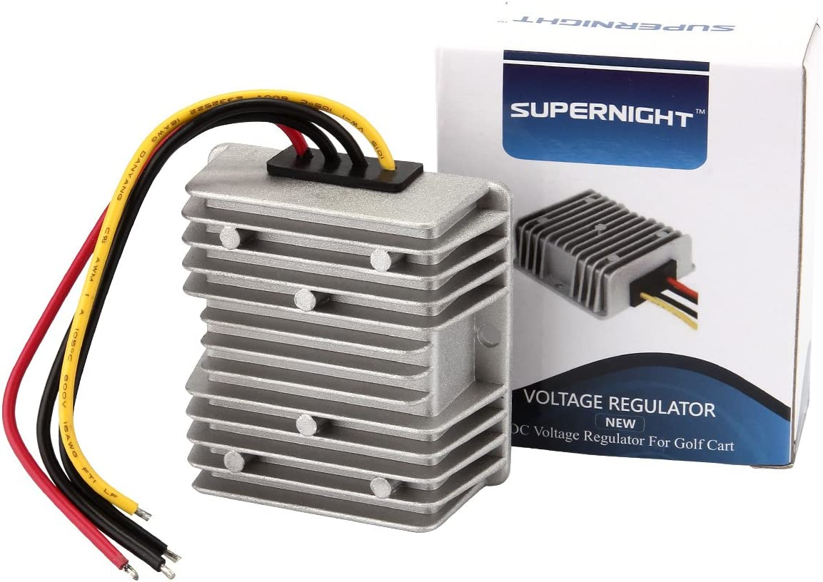 99 club car 48 volt wiring diagram amazon com golf cart voltage reducer converter 48v to 12v 10a  golf cart voltage reducer converter 48v