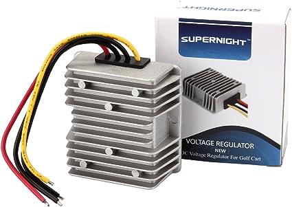 Amazon.com: Golf CART Voltage Reducer Converter 48V to 12V 10A 120W:  ElectronicsAmazon.com