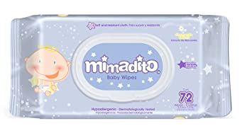 Baby Wipes by MIMADITO – Made With Natural Extracts, Purified Water. Light Scent and Soft Cloth.