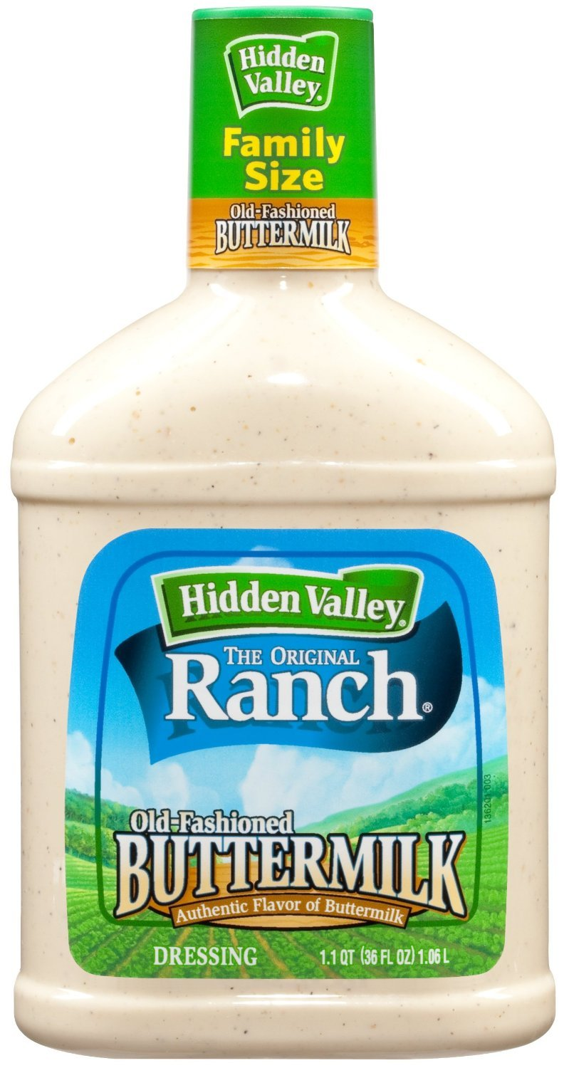 Hidden Valley Ranch, Old-Fashioned Buttermilk Ranch Dressing, 36oz Bottle (Pack of 2)
