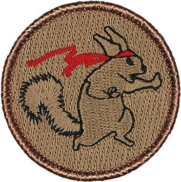 Amazon.com: Parche bordado redondo de la patrulla de ardilla ...