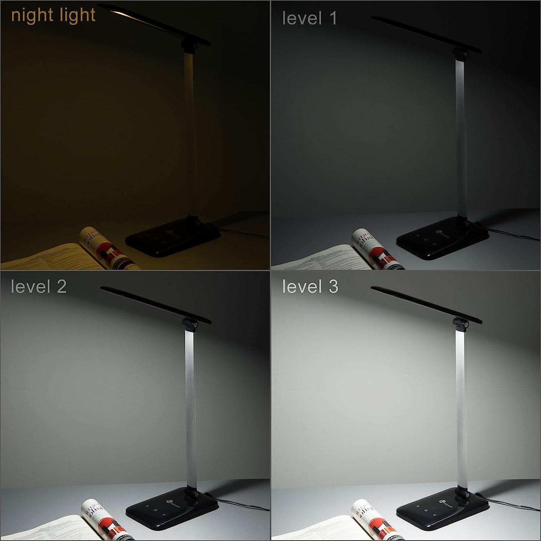Amazon.com: TaoTronics LED Desk Lamp, Dimmable LED Table Lamp, Cool White  Reading Light, Eye-caring Book Light (3-Level Dimmer, Touch-Sensitive  Control, ... - Amazon.com: TaoTronics LED Desk Lamp, Dimmable LED Table Lamp