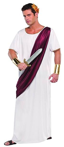 Amazon.com: Caesar Roman King Mens Fancy Dress Emperor Toga ...