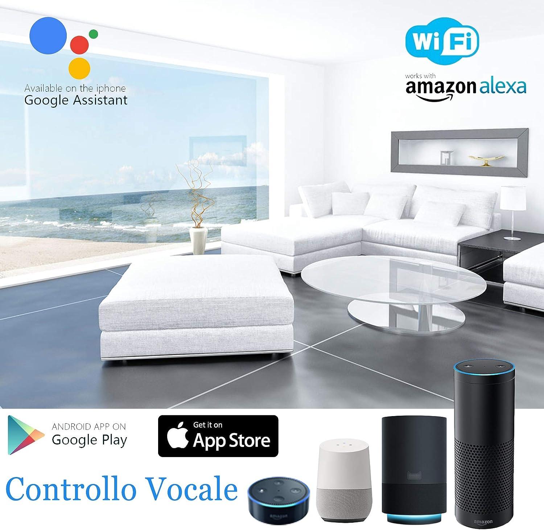 interruptor de obturador WiFi Interruptor de cortina inteligente Jinvoo 1 pack control remoto de la aplicaci/ón compatible con Alexa // Google Home sincronizaci/ón