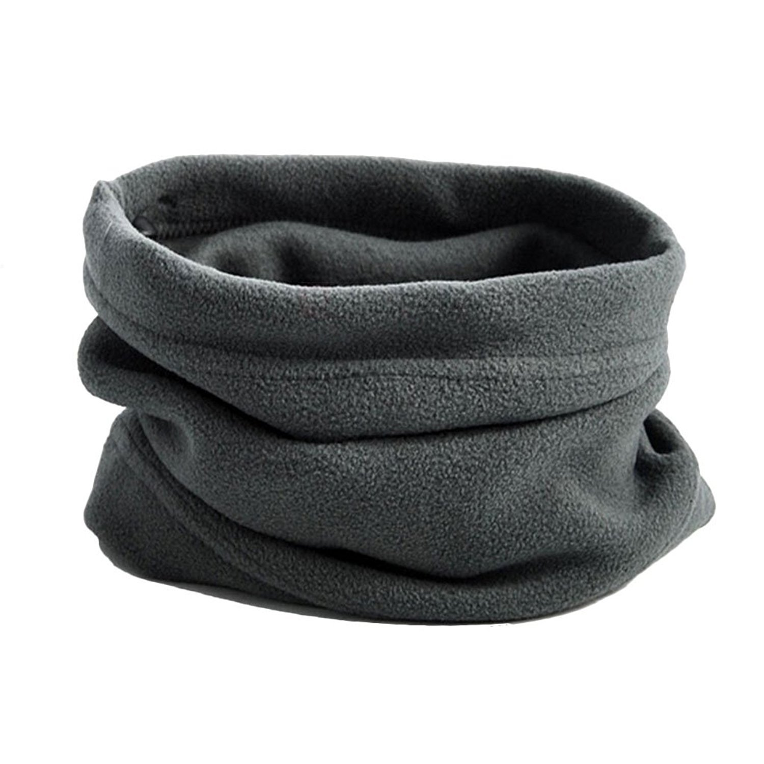 Fleece Neck Warmer Face Mask for Cold Weather Ski Mask Face Shield Headgear Balaclava for Warmth Outdoors, One Size Fits All (Gray)