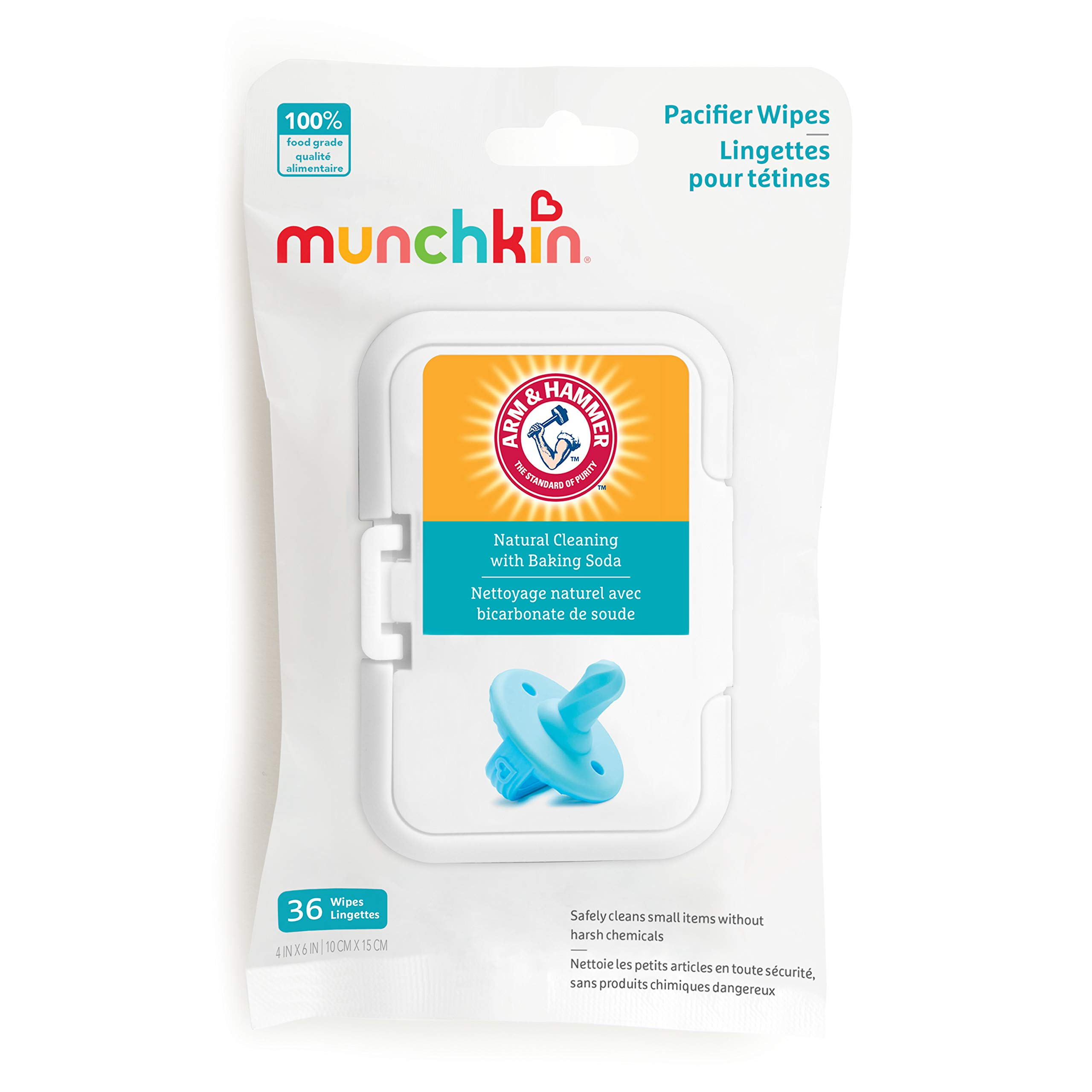 Munchkin Arm & Hammer Pacifier Wipes, 1 Pack, 36 Wipes