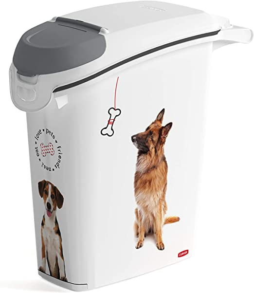 CURVER 241097 - Contenedor para Pienso 10 Kg/ 23 L, 23 x 50 x 49 cm: Amazon.es: Productos para mascotas