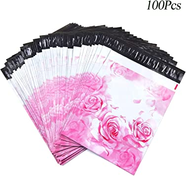"Envelope Mailers 10/"" X 13/"" 100 Pack Vintage Floral Poly Plastic Custom Bags"