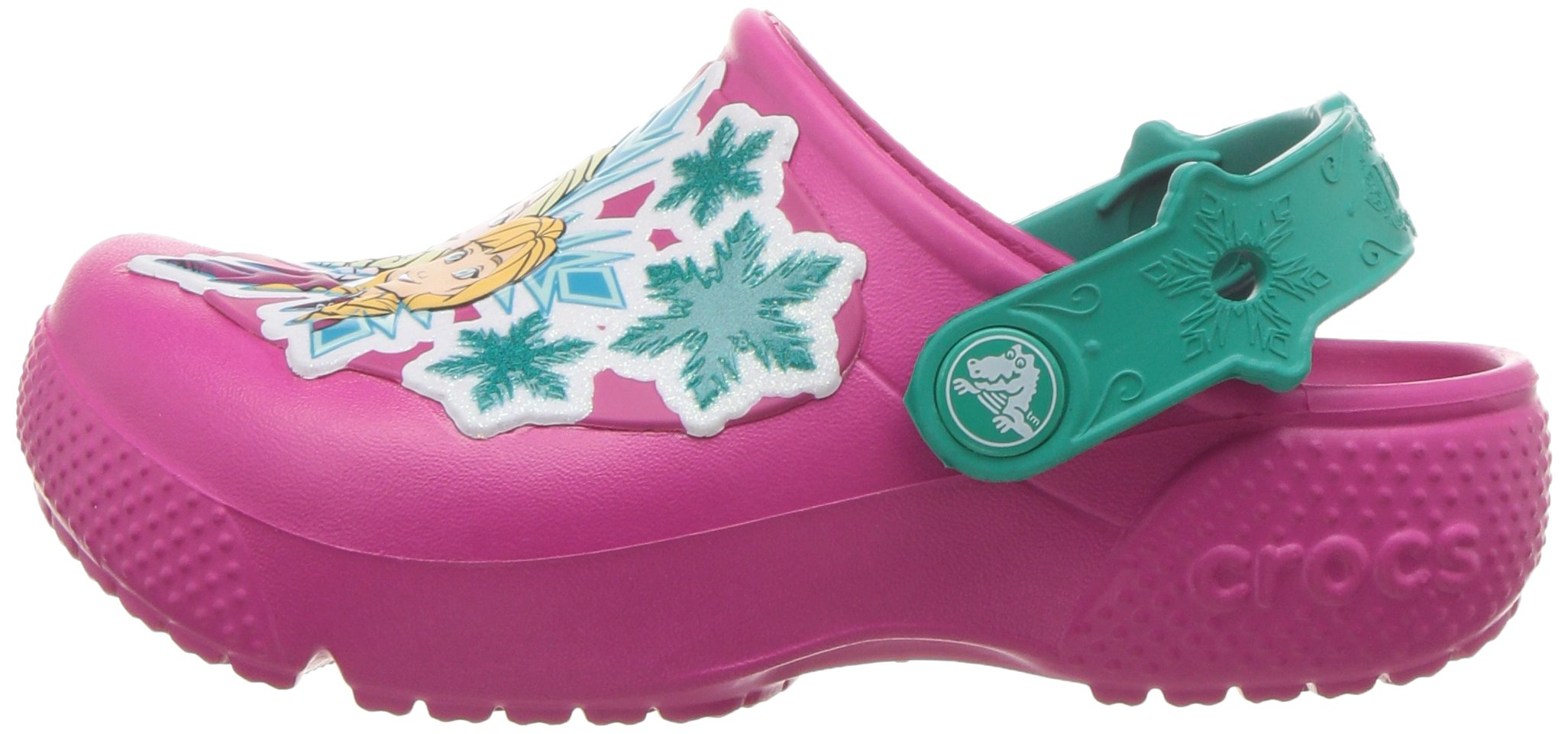 Crocs Girls' Fun Lab Frozen Clog K, Candy Pink, 10 M US Little Kid by Crocs (Image #5)