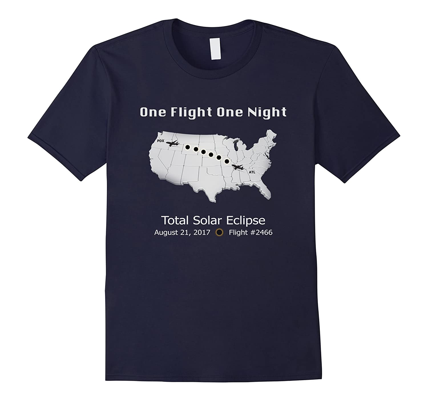 2017 Total Solar Eclipse | One Flight One Night | T Shirt-Art