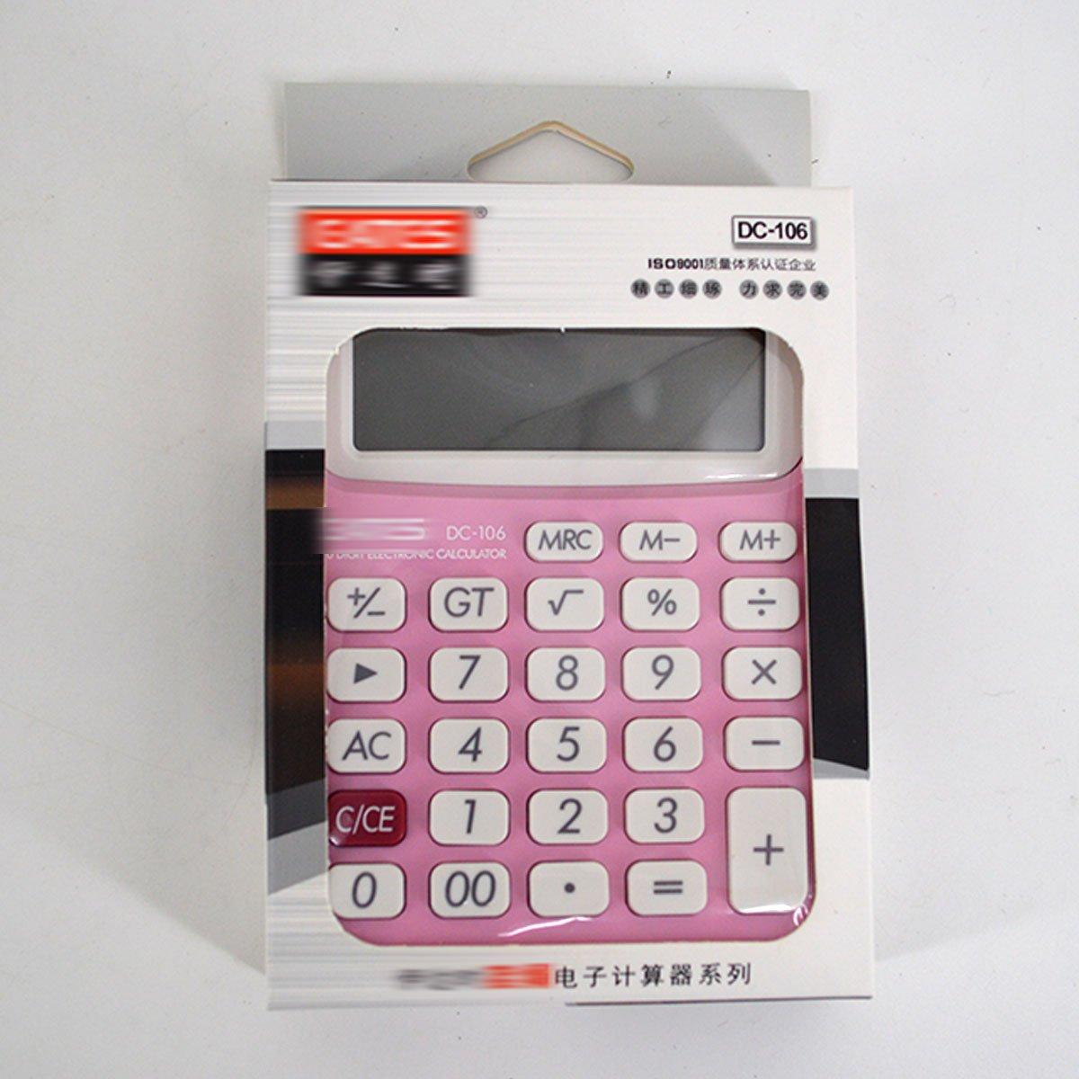 Clara Home Office School Use Calculator Portable Calculator Large LCD Display Calculator(Pink) by CLARA (Image #7)