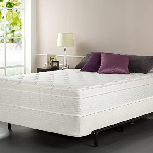 Zinus iCoil 13 Inch Euro Top Spring Mattress and BiFold Box Spring Set