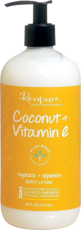 Renpure Coconut Milk & Vitamin E Body Lotion, 16 Ounces