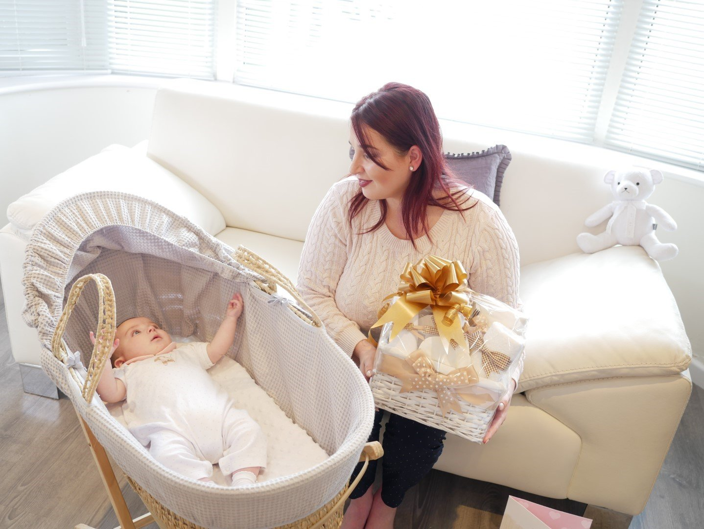 Zebra Luxury Unisex Newborn Twin Baby Shower Gifts Hampers⼁New Born Neutral Boy and Girl Gift Hamper Baskets for Twins⼁Nappy Cake Basket Presents Sets Boys Girls⼁Mum Maternity Leave Set Nappie Cakes