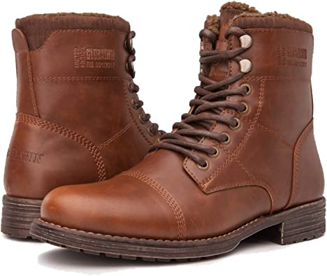 Cap Toe Winter Ankle Combat Boots