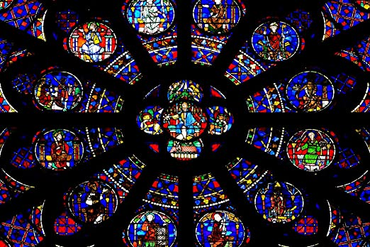 Rose Window of Notre Dame Cathedral Paris France Photo Art Print Poster 18x12 in