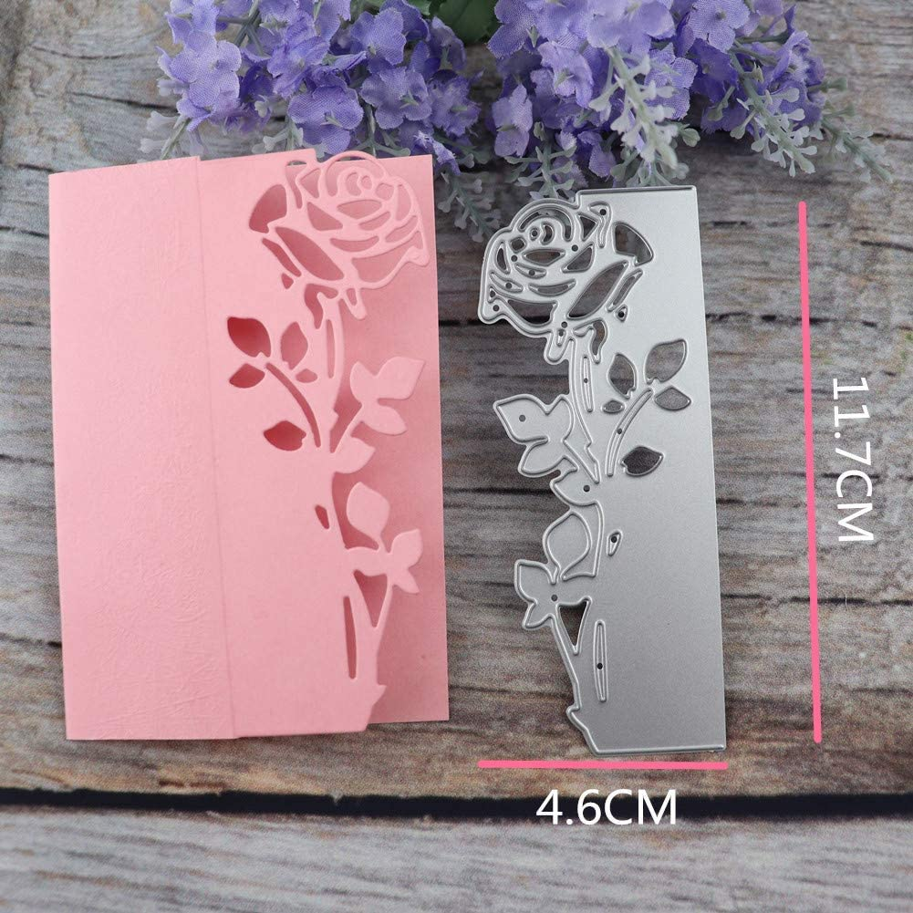 WYSE Metal Cutting Dies Flower Die Cuts for Scrapbooking Card Making Tools Rose Dies