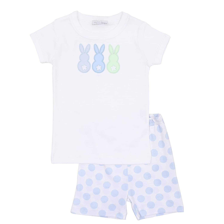 Magnolia Baby Baby Boy Baseball Applique Short Pajamas Blue