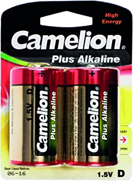 Camelion 11000220 - Pack de 2 Pilas alcalinas, 1.5 V: Amazon.es ...