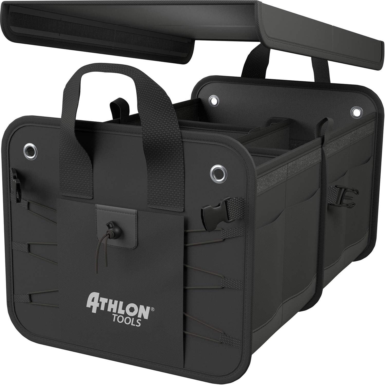Bolsa de maletero prémium con tapa ATHLON TOOLS; sello de calidad 06/2020 - notable; organizador de maletero XXL de 60 litros; base extraestable e ...