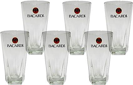 Rastal - 6 exclusivos bacardi ron vaso libbey copas de cóctel ...