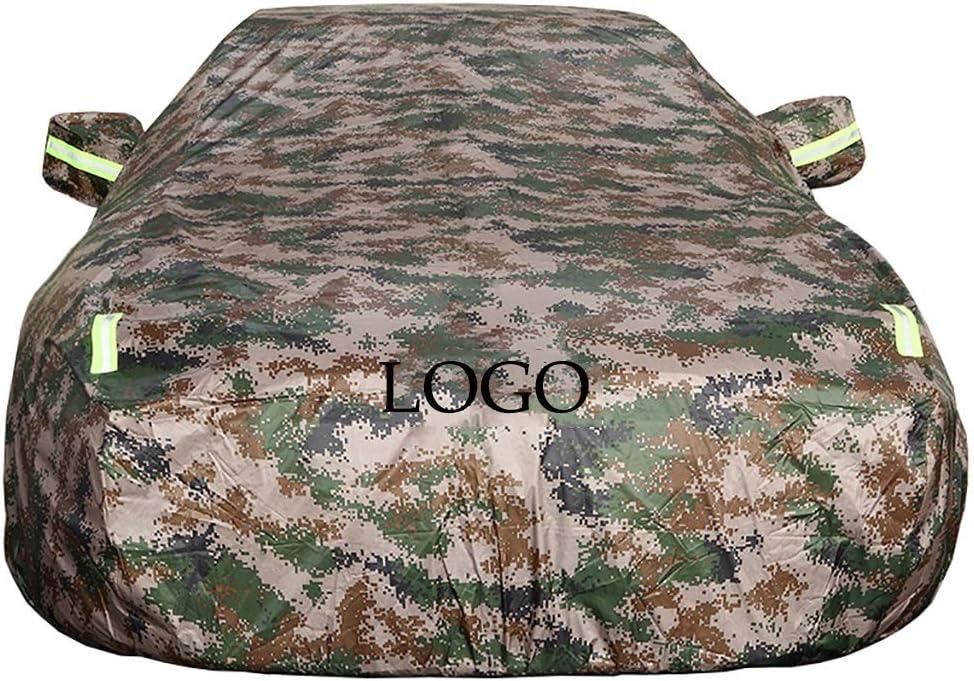 dimensioni : Ghibli con LOGO Impermeabile estate e inverno Car Cover Protezione UV auto vestiti per adattarsi Maserati Camouflage Copriauto