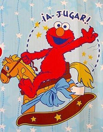 Amazon.com  Sesame Street Baby Throw- Rocking Horse Theme Elmo Plush Blanket   Baby cd3a6e79e