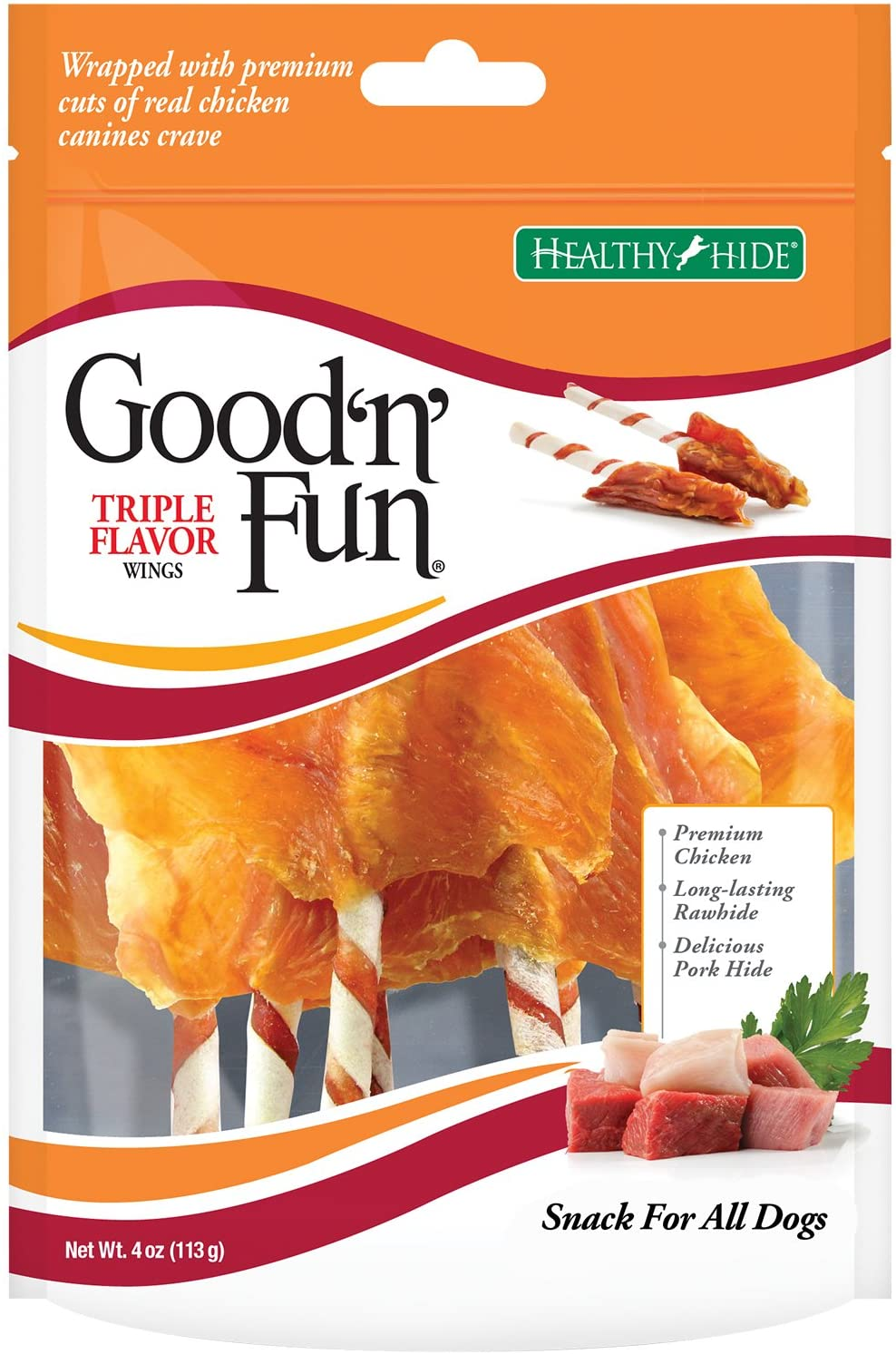 Good 'N' Fun Triple Flavor Wings Treats for Dogs