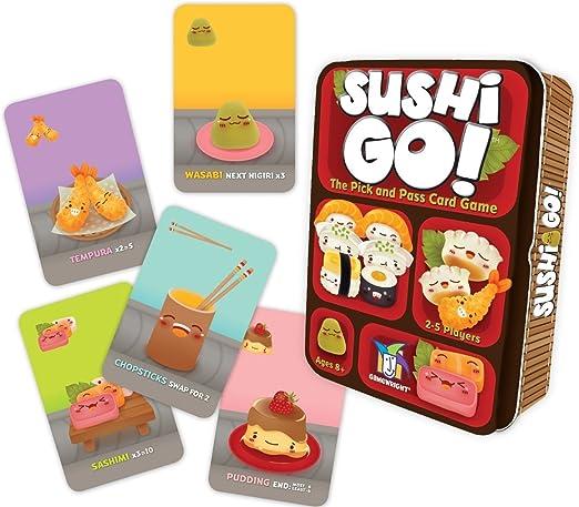Juego de Mesa Sushi go, el Juego de Robar y Pasar, de Gameright ...