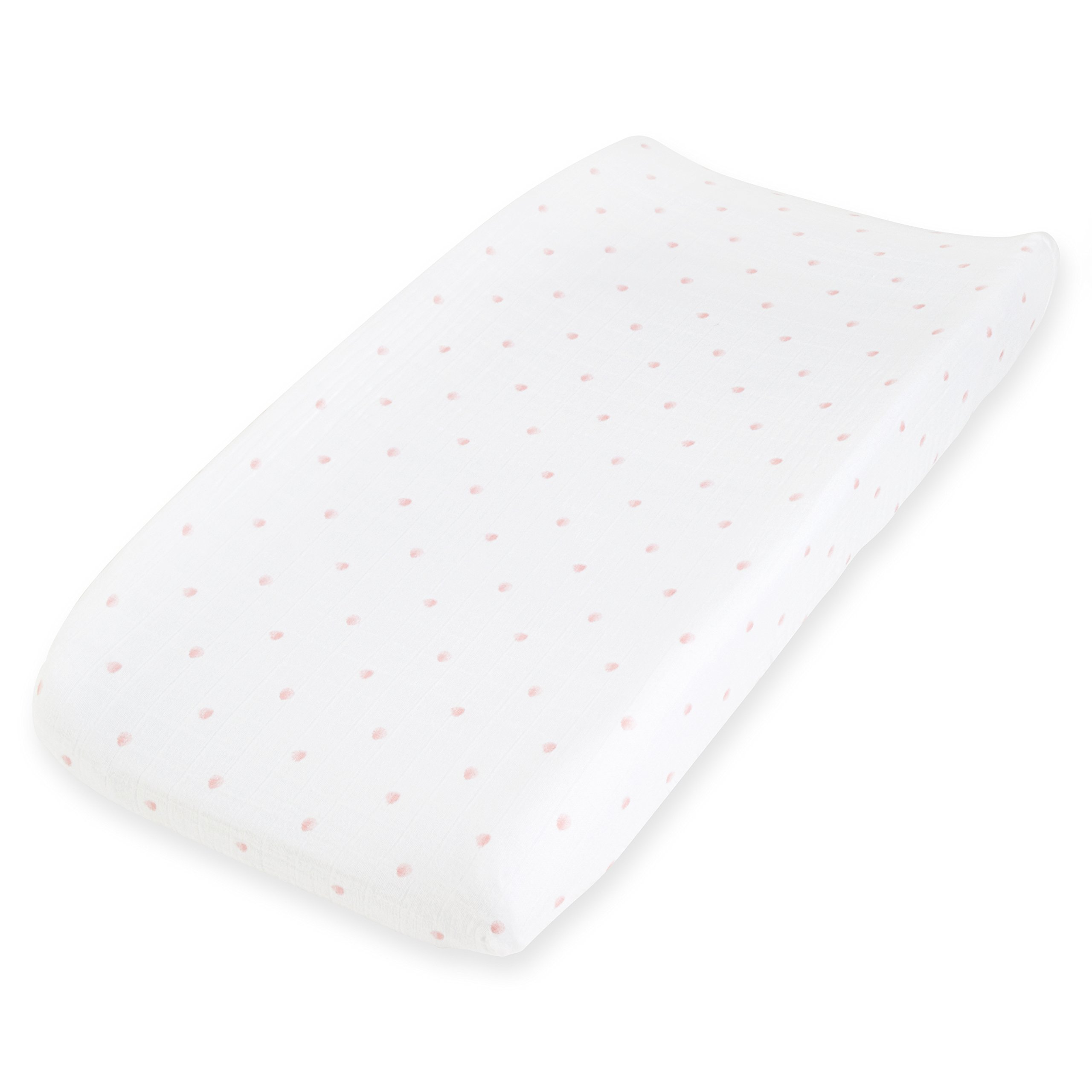 aden + anais Changing Pad Cover, Lovebird - Rose Water Dot