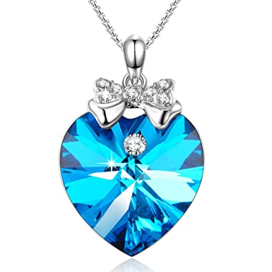 Angeladylove guardianheart pendant necklace crystal from angeladyquotlove guardianquotheart pendant necklace crystal from swarovski gift for women birthday aloadofball Choice Image
