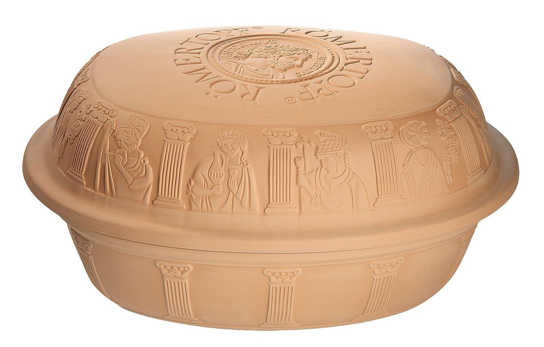 Romertopf by Reston Lloyd Classic Series Glazed Natural Cooker/Roaster, Turkey Extra Large Size