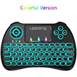 USB 2.4GHz Colorful Backlit Mini Wireless Keyboard H9 with Touchpad Mouse Combo for PC,Smart TV,Google Android TV Box,HTPC,IPTV,Raspberry pi 3,Pad and More USB Port Device