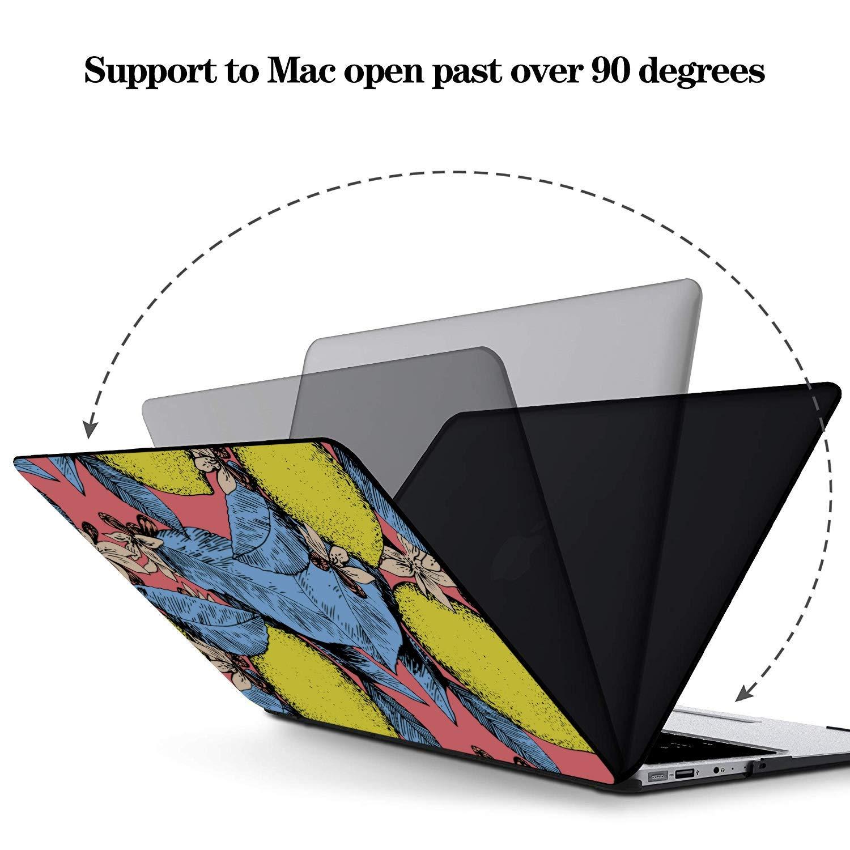 MacBook Air 13 Accessories Summer Fashion Flower Fruit Lemon Plastic Hard Shell Compatible Mac Air 11 Pro 13 15 MacBook Pro 13 Cases Protection for MacBook 2016-2019 Version