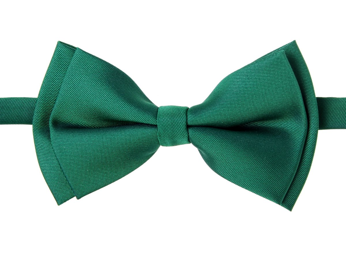 Retreez Solid Matte Color Woven Microfiber Pre-tied Boy's Bow Tie
