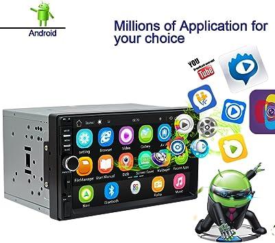 Ezonetronics Android Autoradio Estéreo 7 Pulgadas Pantalla táctil ...
