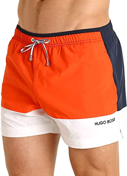 BOSS Starfish Swim Short in Orange