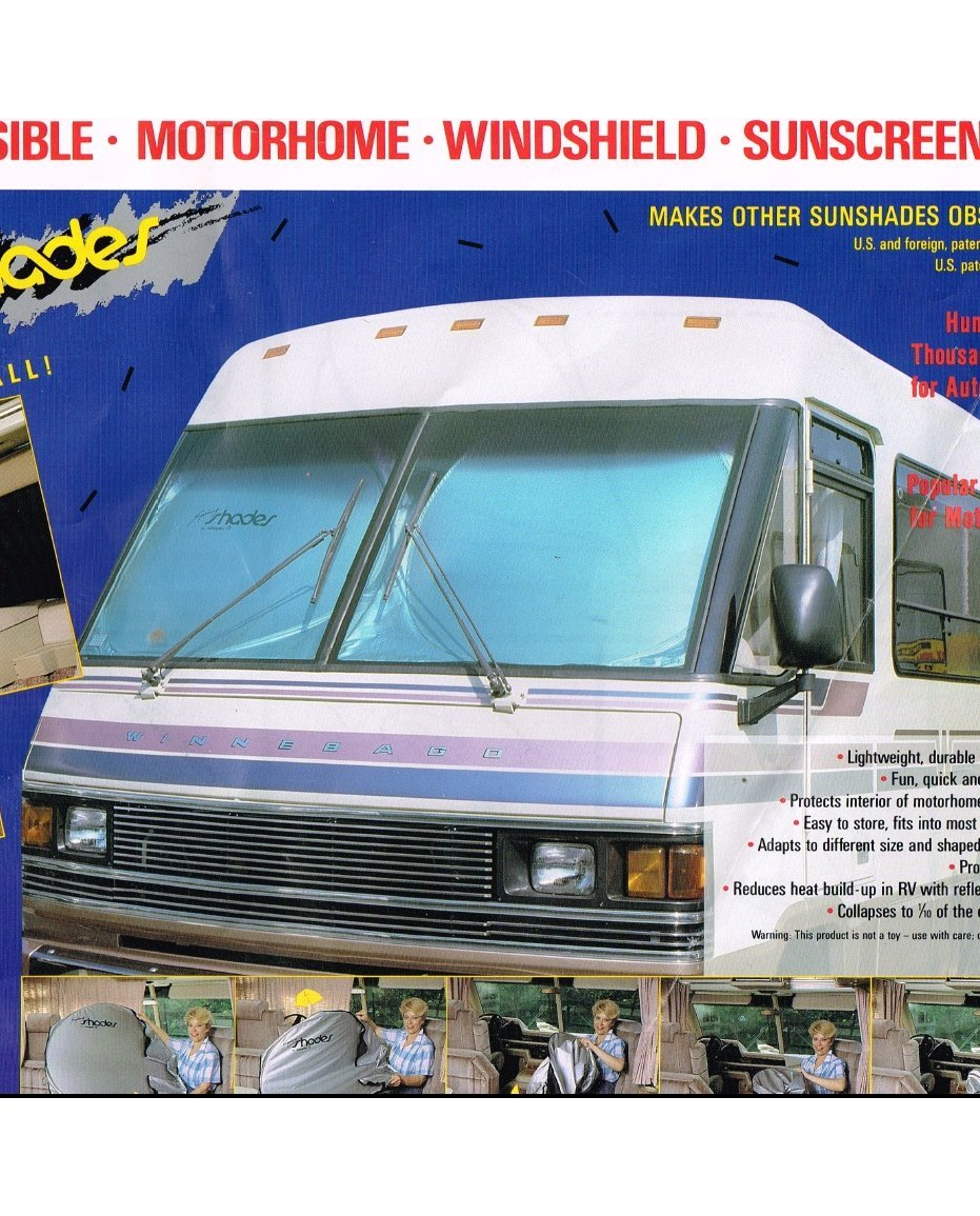 amazon com rv motorhome reflective collapsible sunshade 1pc
