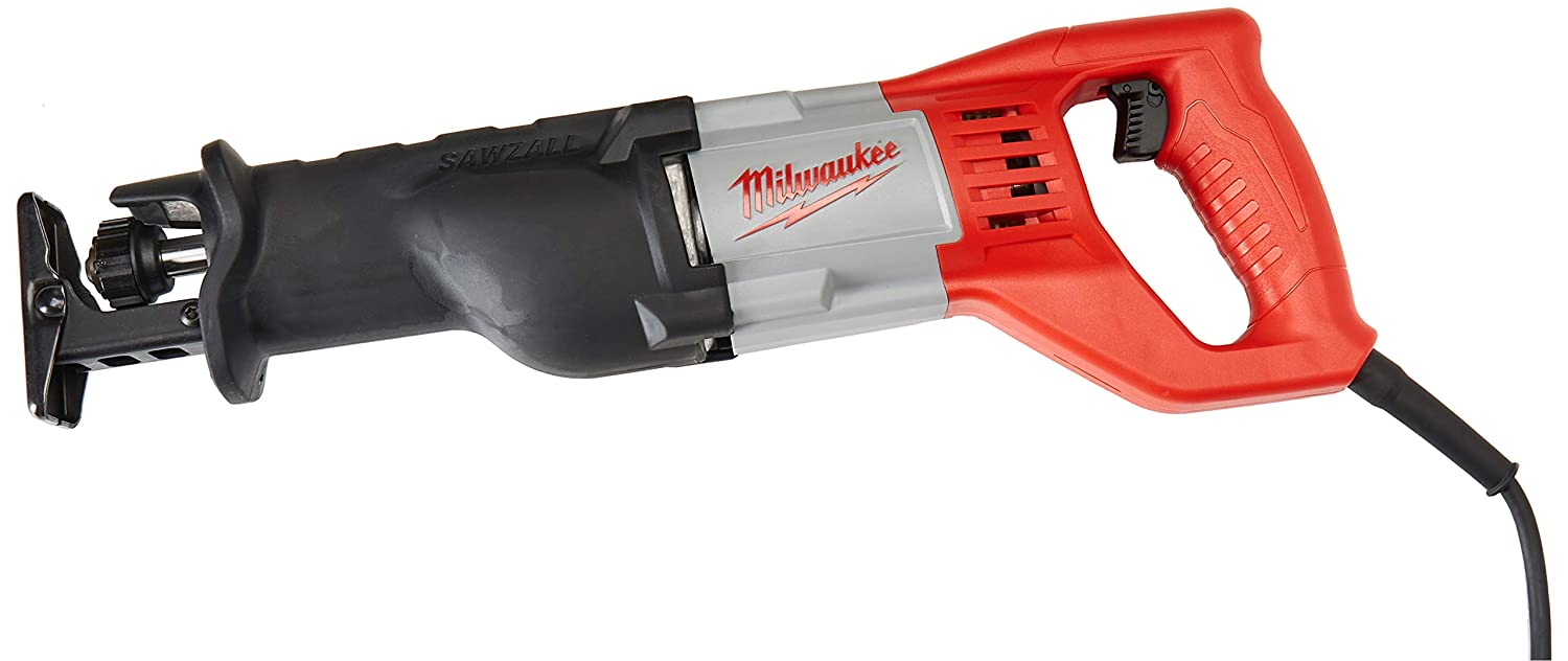 Milwaukee 6519 31 12 Amp Corded 3000 Strokes Per Minute Reciprocating Sawzall W/ Variable Speed Trigger by Milwaukee